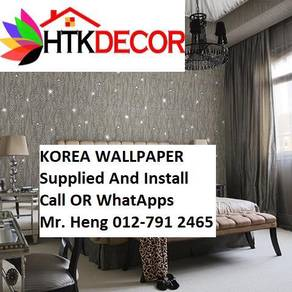 Pretty Wallcovering with Installation kiol8705
