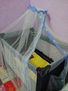 Playpen+tilam kekabu baru+kelambu comel