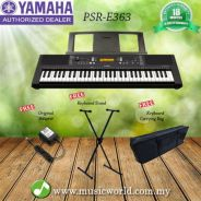 Yamaha psr-e363 61keys keyboard with keyboard bag