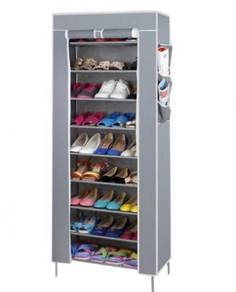 10 Tier Self Assembled Dustproof Shoe Rack