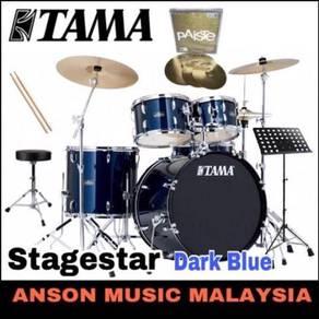 Tama Stagestar Drum Set w/Paiste 101 ,Dark Blue