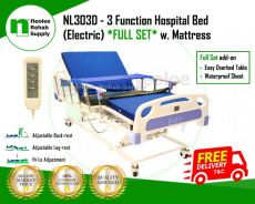 [Full Set] Hospital Bed 3 Function (Electric)