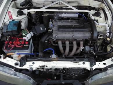 Enjin 4g63 rvr complete wiring+gearbox mt