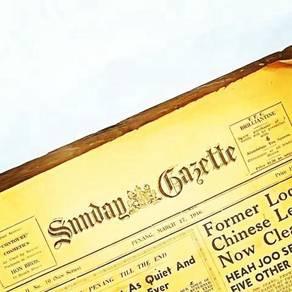 Vintage newspaper surat khabar lama