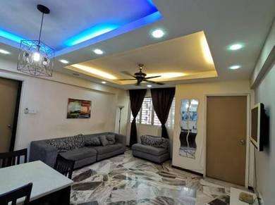 Apartment 4 bilik l Dekat LRT l TBS l KTM l fully furnished l Sekolah