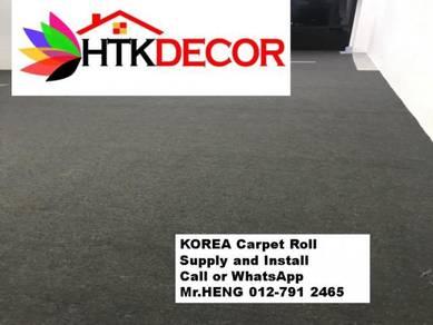 Advisors installation of office carpet roll 93AK