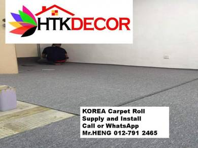Advisors installation of office carpet roll 85BL
