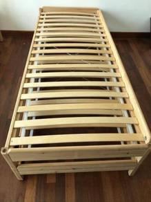 UTAKER Stackable 2 beds with 2 mattresses 80x200cm