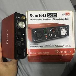 Scarlett Solo 2nd Gen 2i2 USB Audio Interface