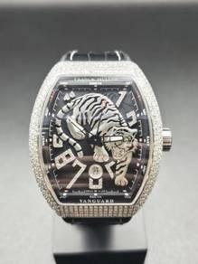 Franck Muller V45 Vanguard Tiger Full Diamonds