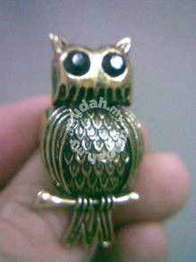 ABRB-O001 Retro Style Bronze Owl Ring - All Size