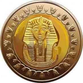 Egyptian KING TUT, 2010 Egypt coin 1 pound BU