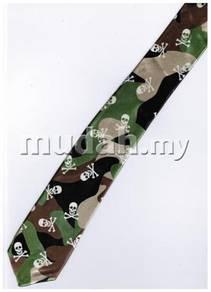 Army Pirates Jolly Roger Skull SLIM Neck Tie