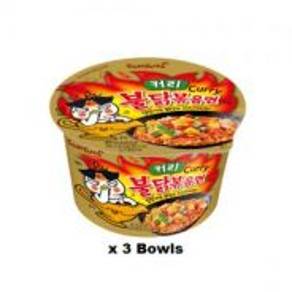 Samyang Hot Chicken Ramen Big Bowl Curry (3 Bowl)