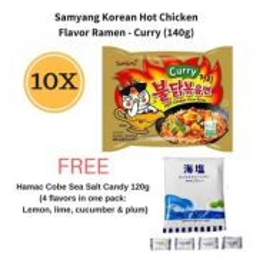Samyang Hot Chicken Curry Ramen FREE Cobe Candy