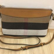 Burberry Canvas Check Peyton Wristlet