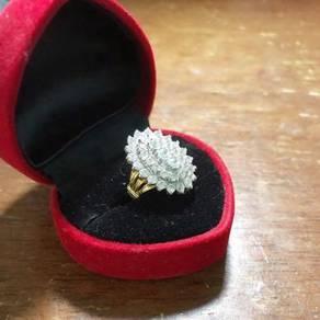 Swiss diamond ring size 15