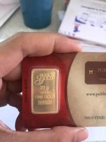 Public gold bar 20gram