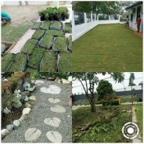 Garden (Tanam rumput)(Potong pokok)