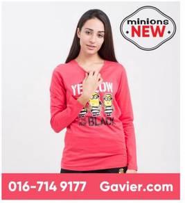 Baju Minions Pink Long Sleeve Tee *Free Shipping