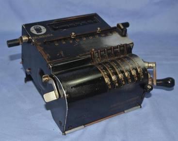 Antique brunsviga 10 germany pinwheel calculator