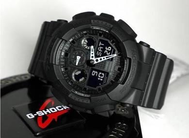 Watch - Casio G SHOCK GA100-1A BLACK-ORIGINAL