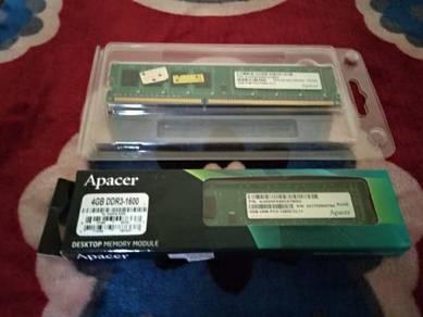 Desktop Ram DDR3 1600MHZ 8GB (4+4)