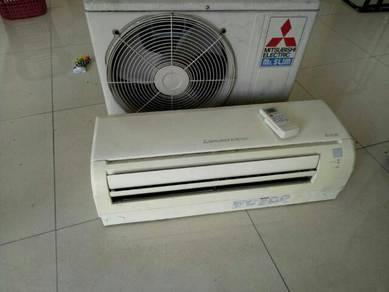 Air cond 2nd hand mitsubishi mr.slim 1.5 hp