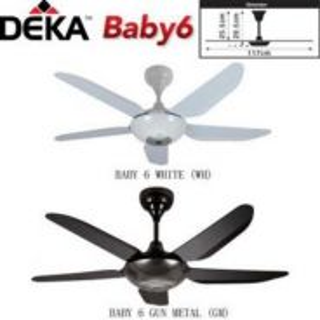 New ,Deka Baby 6n 42Inch Kipas Siling