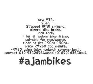 Basikal Bicycle# MTB 27sp
