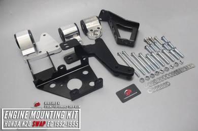 Billet engine mounting kit honda k20 swap eg 92-95
