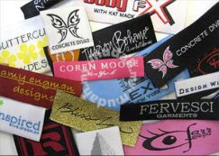 Custom Woven Damask and Satin Clothing Labels