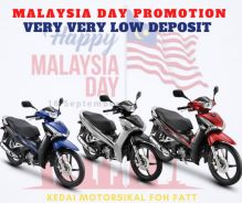 Super low deposit promotion malaysia day wave 125
