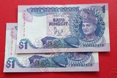 $1 Jaafar Hussein HA6247478-79 (2 pcs)