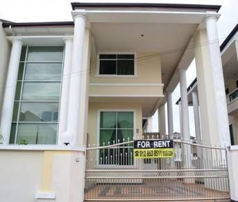 Three storey semi detached at Bayshore Miri for rent