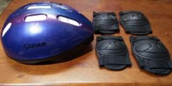 Children cycling helmet and protector