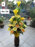 (3) Flower With Stand/ Bunga dengan Stand