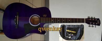 Acoustic Guitar 38Inch A&K #010 Purple