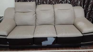 Sofa kulit full leather 2+3 seater