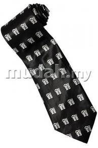 Chinese Calligraphy Good Luck Fortune BLK Neck Tie