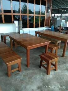Set meja makan kayu cengal