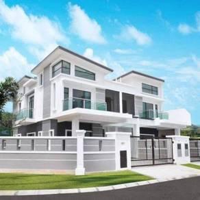 100% Loan [Corner Built Up 3280sf]2sty Superlink nr Cyberjaya