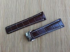 BREITLING 24 mm Brown Leather Watch Strap