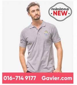 Baju Minions Grey Melange Polo Tee *Free Shipping