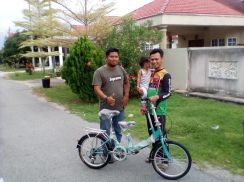 Tandem bike 6 speed folding