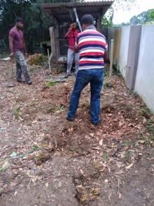 Potong pokok/Tanam rumput/landscape