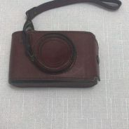 Fossil leather vintage camera case