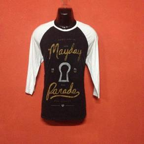 Baju band MAYDAY PARADE 3q t shirt