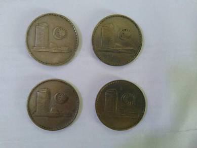 50 SEN 4 Pieces 1967