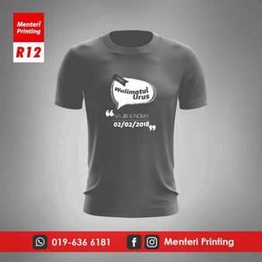 Tshirt Rewang Printing Baju Kahwin Cetak R12